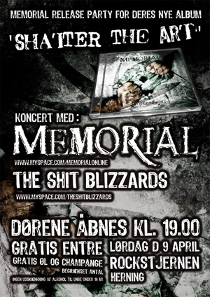 lille release 2011 Memorial Releaseparty Poster posters flyers  Posters Memorial Frontpage